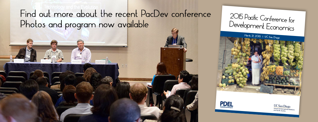 2015 Pacific Conference for Development Economics Recap