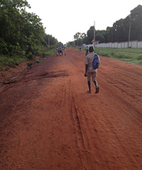 Students in Kalalé, Benin, make their daily commute to and from school.
